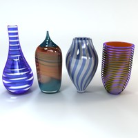 3d art glass vase model