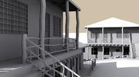 free 3ds model neighborhood village