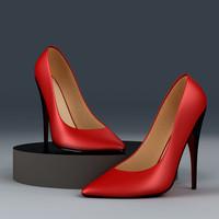 3D Models Hochhackiger Schuh