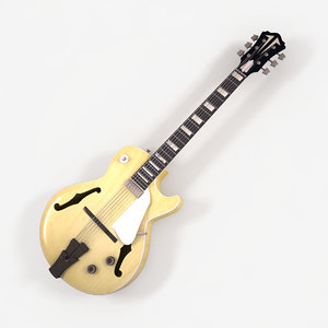 3d model antique electric guitar