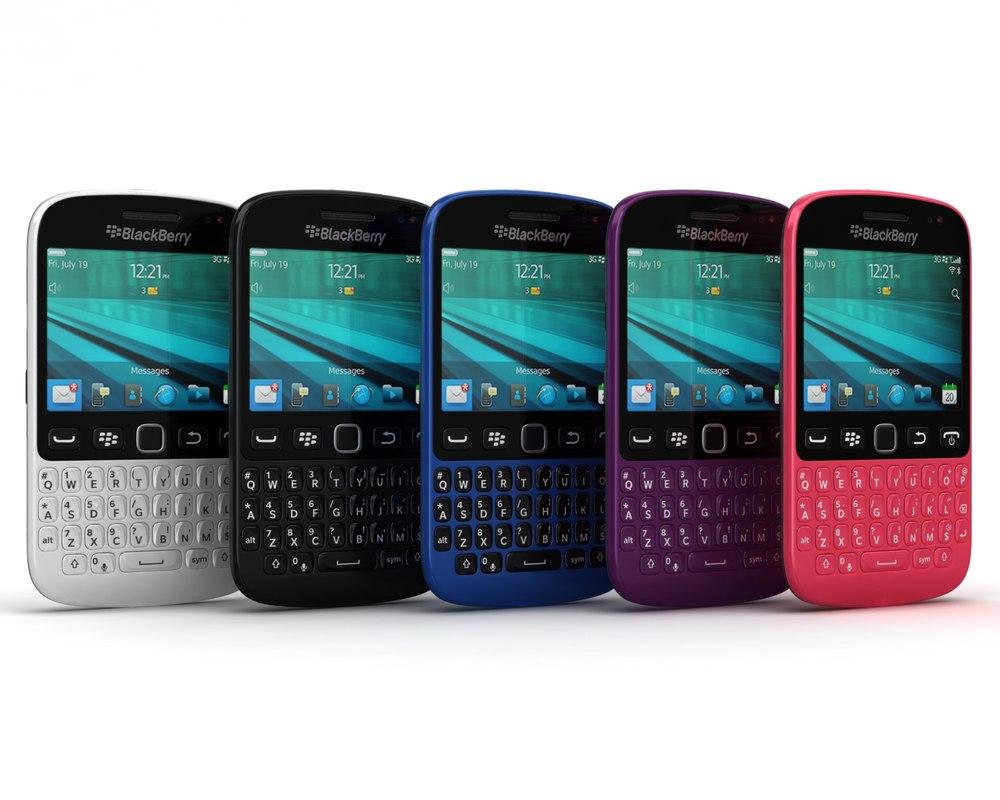 3d model blackberry 9720 samoa colors