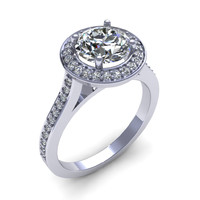 Crown Star Engagement Ring