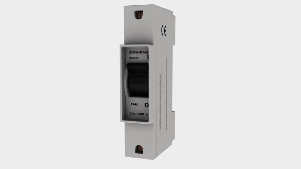 electrical circuit breaker 3d max