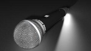microphone 3d c4d