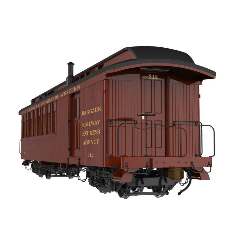 narrow gauge passenger cars obj