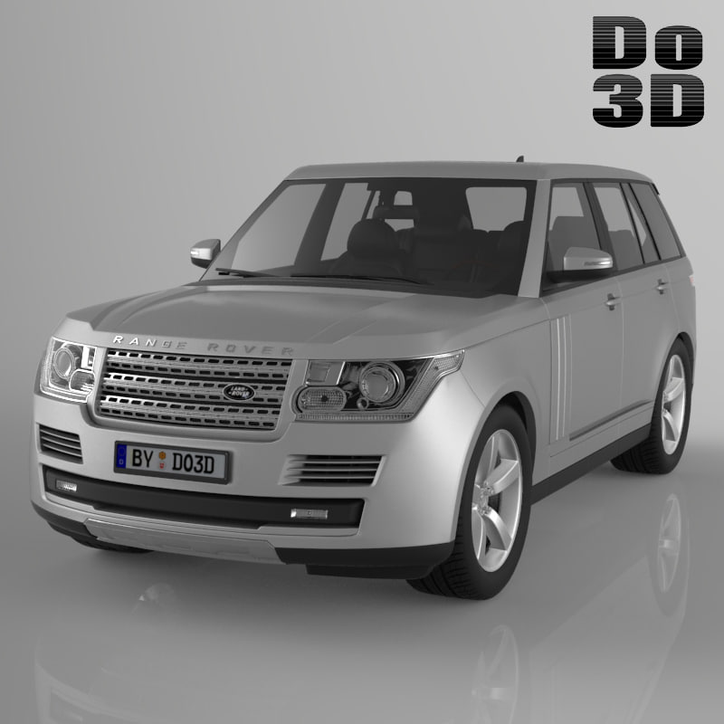 land range rover 3d model