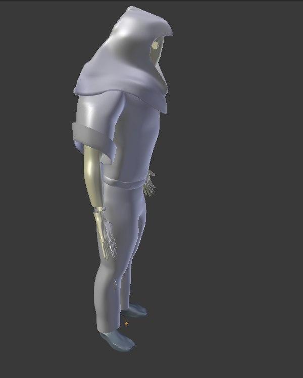 3d low-poly druid model