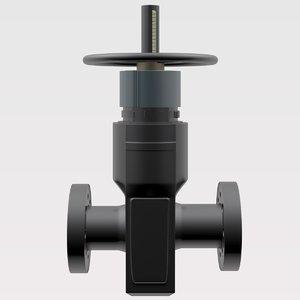 3d model oil latch
