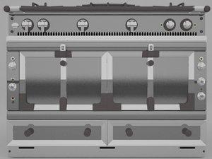 oven la cornue 3d model