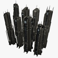 8 tall city buildings max