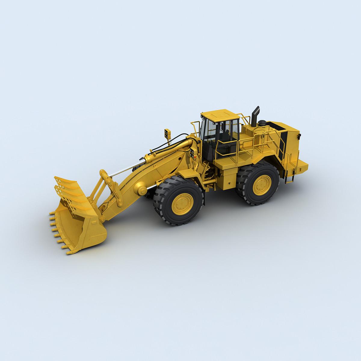 construction vehicles 3d obj