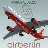 3d airbus a330-200 airberlin model