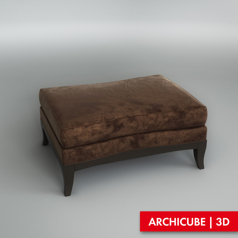 3d model of pouf