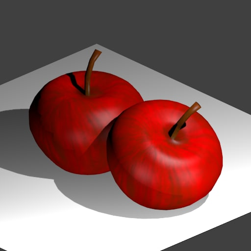 3d red apple