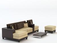 c4d corner sofa set