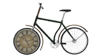 3d bicycle clock model