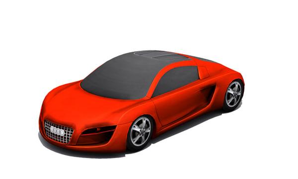 concept low-polygon 3d model