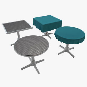 3d cafe tables