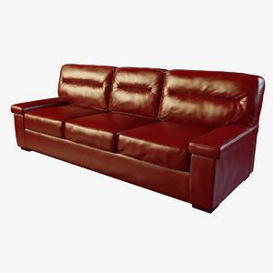 modern casino red leather obj