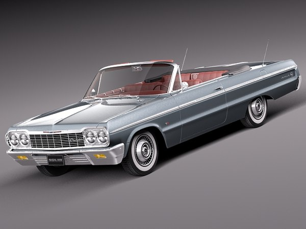 v8 antique convertible chevrolet chevy 3d c4d
