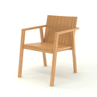 Contemporary Wooden Armchair