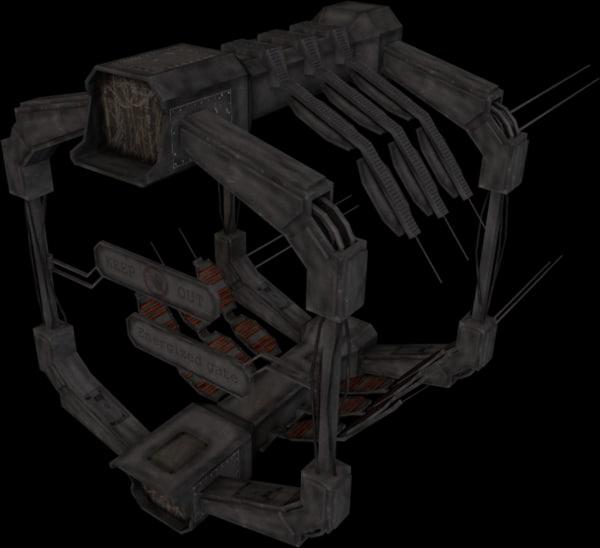 scifi docking gate 3ds