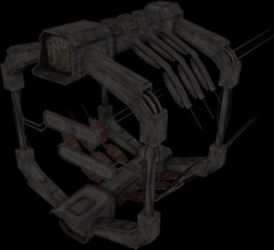 scifi docking gate 3ds