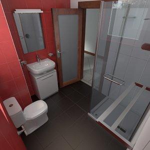 3ds washroom accessories window