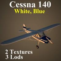 cessna 140 dbl aircraft 3d max