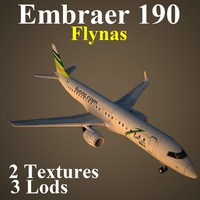 embraer kne 3d model