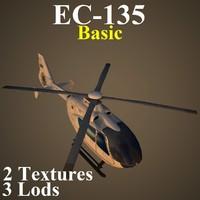 eurocopter basic 3d model