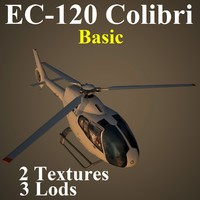 eurocopter basic helicopter 3d max