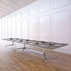 3d meeting table model