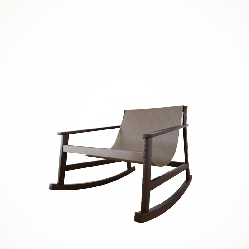 3ds max dondolo rocking chair