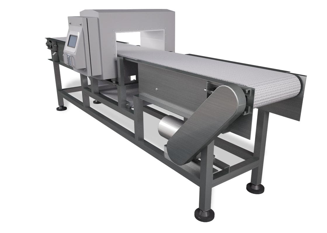 3d conveyor metal detector model