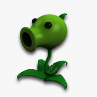 3ds max pea shooter