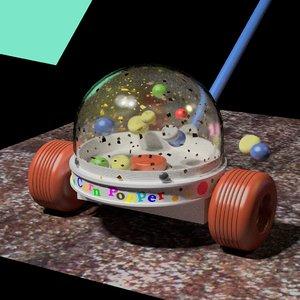 3d toy popper model