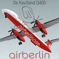 3d havilland q400 plane airberlin model