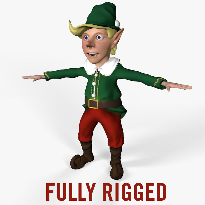cinema4d rigged christmas elf