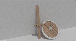 maya wood sword
