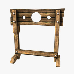 3d medieval stocks