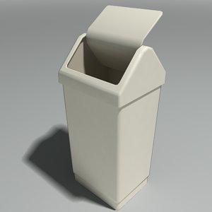 3d kitchen rubbish bin model