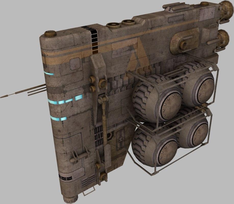 fuel hauler 3d model