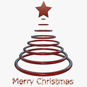 tree merry christmas 3d model