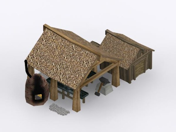 3ds max blacksmith shop