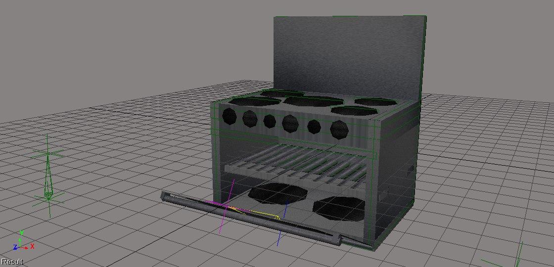oven 3d fbx