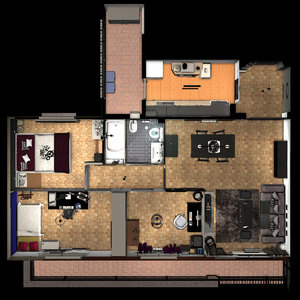 entire apartment fbx