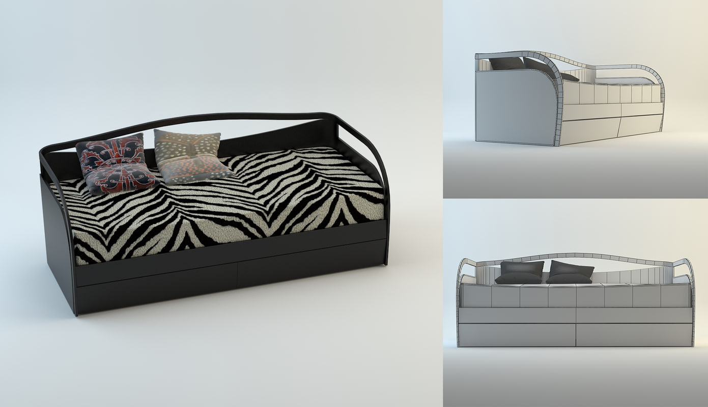 bed africa 3d max