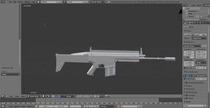 free blend model untextured scar-h