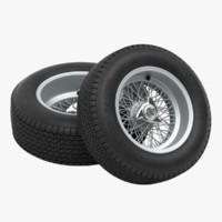 3d car wheels - dunlop